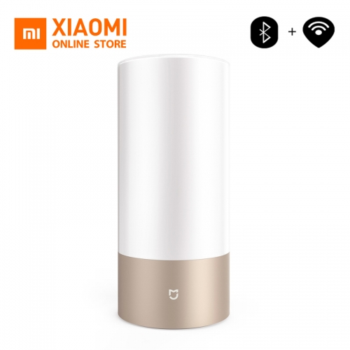 Xiaomi Mi Bedside Lamp Mijia Smart Light Indoor Bed Light, 16 Million RGB Colors Changing Bluetooth WiFi Touch Control Gold Color
