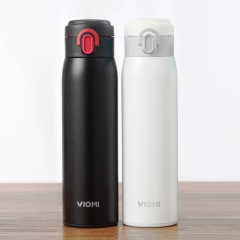 Xiaomi Mi Mijia VIOMI Stainless Steel Vacuum 24 Hours Flask Water Smart Bottle Thermos Single Hand ON