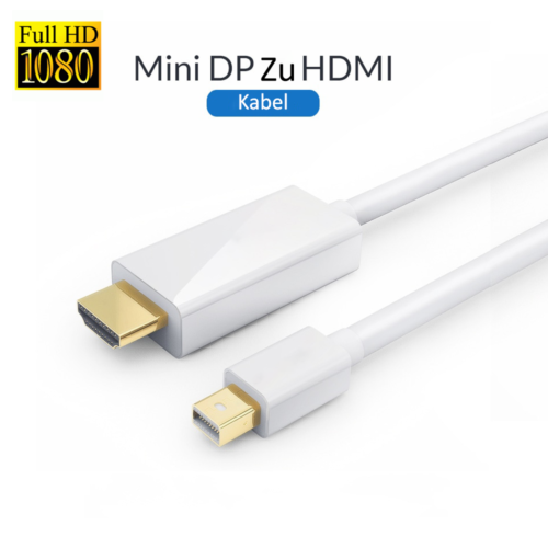 MINI DP Display Port to HDMI Cable Adapter 3M Thunderbolt Displayport For Apple Macbook
