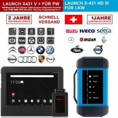 "Lancement X431 V + & X431 HD3 robuste 10.1 ""écran tablette Bluetooth/wifi test de scanner de diagnostic automatique pour camion 12 V/24 V"
