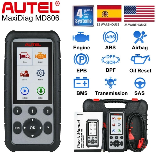 Autel MaxiDiag MD806 OBD2 Diagnose-Tool Code Reader Scanner ABS SRS EPB DPF
